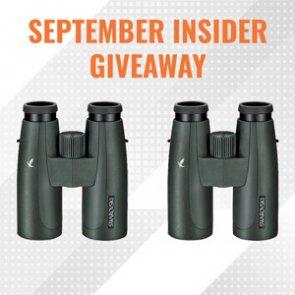 September INSIDER giveaway - Two Swarovski 10x42 SLC binoculars