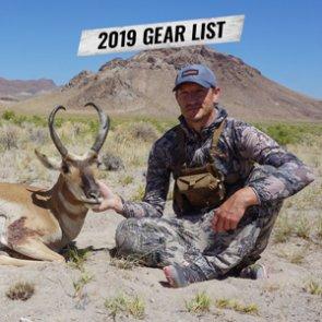 Trail Kreitzer's 2019 Nevada early season archery antelope hunting gear list