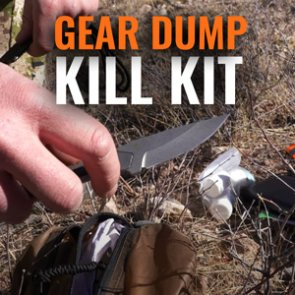 Trail Kreitzer's possibles pouch and kill kit gear dump