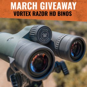 March INSIDER Giveaway: 5 Vortex Razor UHD 10x42 Binoculars!