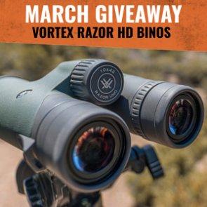 March INSIDER Giveaway: 5 Vortex Razor UHD 10x42 Binoculars!