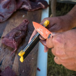 Keeping your knife sharp on a hunt