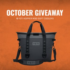 October INSIDER giveaway - Six YETI Hopper M30 Soft Coolers