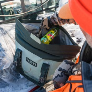 Multiple benefits for using a soft-sided cooler when hunting/traveling