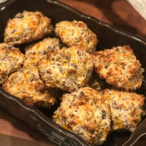From field to plate: elk breakfast biscuits