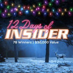 Biggest giveaway of the year — 12 Days of INSIDER