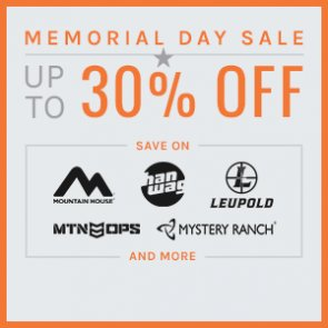 Time is running out on our Memorial Day Sale! — GET UP TO 30% OFF