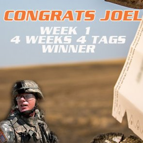Congratulations Joel Kane - 4 Weeks 4 Tags Winner