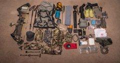 Brady Miller's 2018 early season backcountry hunting gear list