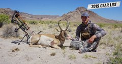 Trail Kreitzer's 2019 Nevada early season archery antelope hunting gear list