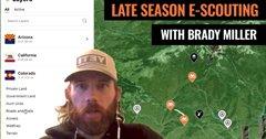 How Brady Miller e-scouts for late season mule deer
