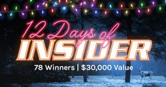 Biggest giveaway of the year — The 12 Days of INSIDER